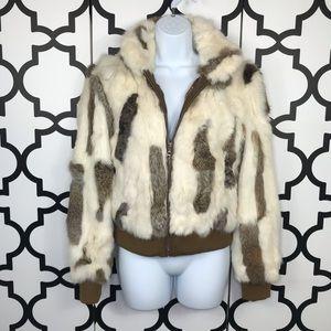 Wilson's Leather Maxina Rabbit Fur Coat